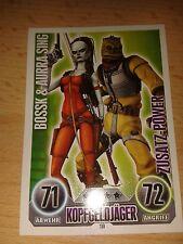 Force Attax Star Wars Serie 1 Zusatz-Power Nr.119 Aurra Sing & Bossk Sammelkarte