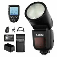 US Godox V1-N TTL Speedlight Round Head Camera Flash + XPro-N Trigger for Nikon