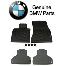NEW BMW F15 X5 2014 Front and Rear L+R All Weather Black Floor Mats Genuine