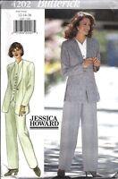 UNCUT Vintage Butterick SEWING Pattern Jessica Howard Jacket Top Pants 4202 Easy