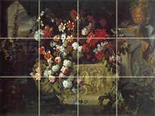 Art Bouquet Flowers Ceramic Mural Backsplash Tile #846
