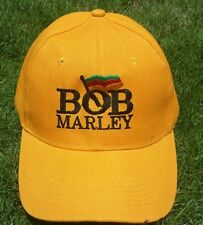 New! Bob Marley Hat Cap - Yellow & Black Lettering - Free Shipping!!!