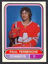 1975 76 OPC O PEE CHEE WHA #112 PAUL TERBENCHE NM CALGARY COWBOYS FREE SHIP USA