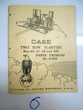Case 40 41 42 42P Two Row Planters Parts Catalog Manual D-403