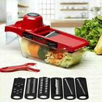 Multifunctional 6 Blades Mandoline Slicer Vegetable Cutter Potato Grater Chopper