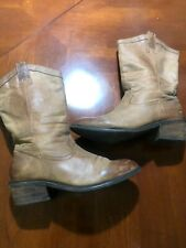 Jessica Simpson brown Leather Boots Cowboy Size 8