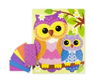 Owls Birds Sticky Mosaic 300 pc.Applique Made in Russia