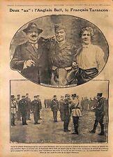 Pilot Albert Ball Royal Flying Corps Pilote Tarascon Légion d'Honneur WWI 1916