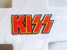 Kiss Writing Old School Rock Glam Metal Embroidered Iron On Patches Patch