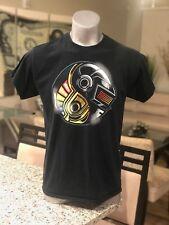 DAFT PUNK Helmets T-Shirt Electronica EDM Tee Electronic Music Concert Tour Rare