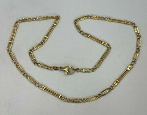 """Vintage 9ct Gold Hallmarked 18"""" Fancy Link Chain Necklace.  Goldmine Jewellers."""
