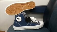 PF FLYERS MEN'S MADE IN USA CENTER HI BLUE CANVAS SNEAKERS SIZE: 6