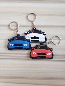 BMW M Car Rubber PVC KeyChain Accessories Custom Design Made