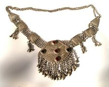 Antique Old Ethnic Tribal Islamic Low Silver Necklace Jewelry