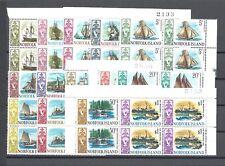 NORFOLK ISLANDS 1967-68 SG 77/90 MNH Block Cat £42