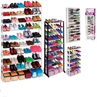 NEW 4 /10 TIER 30 50 PAIRS SHOE RACK STORAGE ORGANISER STAND SHELF SHOE TRAINERS