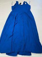Womens ALFANI Blue Sleeveless Long Dress Sz XL NEW NWT $99