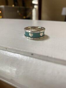 Tiffany & Co. Return to Tiffany Silver Heart and Enamel Ring