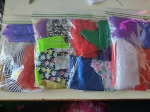 Mixed Fabric Material Joblot Value Bundle Scraps Offcuts for Doll Clothes,Crafts