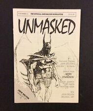 UNMASKED #0 John Bolton Newsletter BATMAN Comic Book Art Army of Darkness 1994