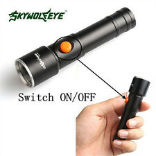 Rechargeable Black 6000LM XML T6LED AA Rechargeable Battery Flashlight Lamp top!