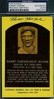 HARRY HOOPER PSA/DNA GOLD HOF PLAQUE AUTHENTIC HAND SIGNED AUTOGRAPH