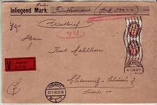 Brief DR Brief VS MEF 434 Nothilfe Orts Wertbrief 31.1.1930