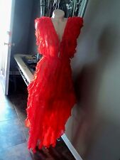 Victorias Secret Silk Gown Robe Designer Collection Full Length Red $498