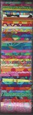 """✔ Kaffe Fassett Assorted PrintJelly Roll 40 x 2.5"""" fabric strip"""