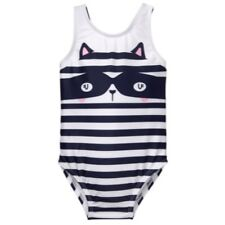 NWT Gymboree Girl Size 4T Striped Racoon 1 PC Swimwear Swimsuit SWIM SHOP