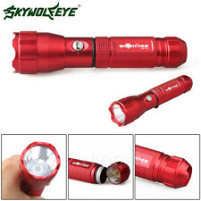 Wolf 4000 Lumens Flashlight Torch 3 Modes XPE LED 18650 Lamp Light Outdoor Red