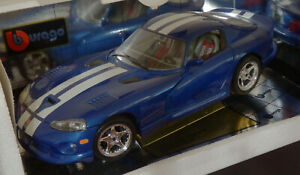 BURAGO 1:18 SCALE DODGE VIPER GTS COUPE USED, BUT IN GREAT CONDITION