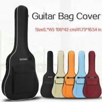 40/41 '' Guitar Bag Cover Acoustic Folk Guitar Backpack with Shoulder Straps Red