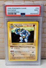 Pokémon PSA 9 MINT Shadowless Machoke Base Set Card 34/102 TCG 1999 Vintage