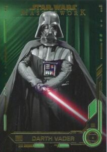 Star Wars Masterwork 2019 Green [99] Base Card #9 Darth Vader
