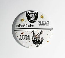 "3""--NFL Oakland Raiders Football Clean/Dirty Dishwasher Magnet"
