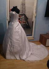 Wunderschönes Brautkleid  2-teilig in weiß gr. 32-38  K-B-38