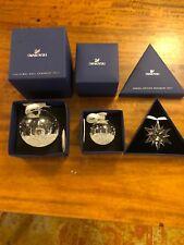 swarovski crystal  collectables Christmas Ornaments Lrg,medium Balls And Star