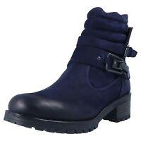 BABOOS 2108 125 Damen Wildleder Boots Stiefeletten Blau Übergrößen 42 43 44 45
