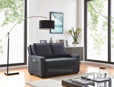 3 Seater Sofa Bed Charcoal or Grey-black Foam Cushion Pocket Stylish Modern Grey Black