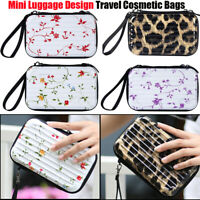 6Colors Mini Luggage Design Travel Cosmetic Bags Waterproof Makeup Case Suitcase