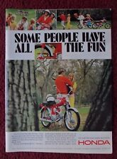 1966 Print Ad Honda Motorcycle Mini Bike ~ Some People Have All The Fun Woods
