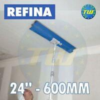 "REFINA 24"" 60cm Finishing Spatula 600mm with Plastering Skimming Spat Pole 1-2M"
