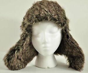 men's Polar Extreme winter headwear faux fur ear flaps blue warm polyester