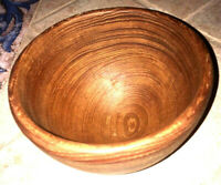 "Pre-Owned Vintage Hand Made 6"" Wooden Deep Bowl"