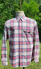 RUGBY By RALPH LAUREN Plaid Long Sleeve Button-down Shirt Men's Size Medium