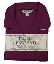 Peter England Plain Wine Pyjama