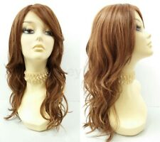 "Heat Resistant Wavy Long Layered Wig Auburn Strawberry Blonde Beach Waves 18"""