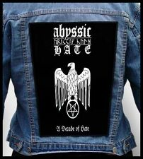 ABYSSIC HATE - A Decade of Hate  --- Giant Backpatch Back Patch
