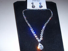 """Park Lane Jewelry, Retired HO """"MASQUERA"""" Necklace & Earrings, Clear CZ's, NEW!!!"""